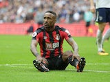 Jermain Defoe has a breather during the Premier League game between Tottenham Hotspur and Bournemouth on October 14, 2017