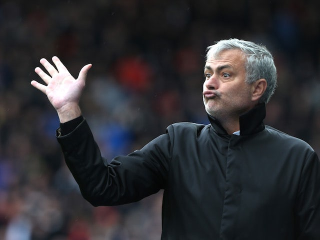 Jose Mourinho realises how many points adrift his side are during the Premier League game between Huddersfield Town and Manchester United on October 21, 2017