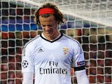 Mile Svilar looks upset during the Champions League group game between Benfica and Manchester United on October 18, 2017