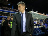 Brum boss Steve Cotterill watches on during the Championship game between Birmingham City and Cardiff City on October 13, 2017