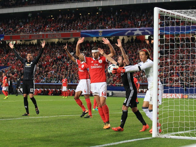 United go a goal up during the Champions League group game between Benfica and Manchester United on October 18, 2017