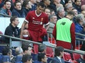 Dejan Lovren is taken off early during the Premier League game between Tottenham Hotspur and Liverpool on October 22, 2017
