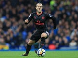 Jack Wilshere in action during the Premier League game between Everton and Arsenal on October 22, 2017