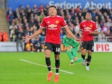 Jesse Lingard celebrates scoring the opener during the EFL Cup game between Swansea City and Manchester United on October 24, 2017