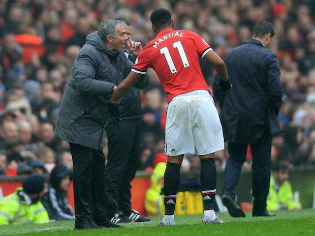 Mourinho unsure of Martial return date