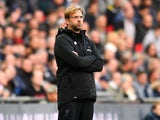 Jurgen Klopp watches the horror unfold during the Premier League game between Tottenham Hotspur and Liverpool on October 22, 2017