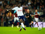 Moussa Sissoko scores the opener during the EFL Cup game between Tottenham Hotspur and West Ham United on October 25, 2017