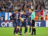 Neymar sees red during the Ligue 1 game between Marseille and Paris Saint-Germain on October 22, 2017
