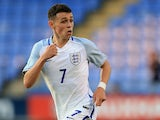 Phil Foden in action for England under-17s on September 1, 2017
