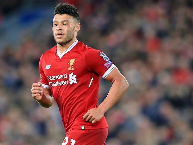 Alex Oxlade-Chamberlain in action for Liverpool on November 1, 2017