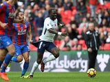Andros Townsend cops an eyeful of Moussa Sissoko's derriere during the Premier League game between Tottenham Hotspur and Crystal Palace on November 5, 2017