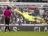 Bournemouth goalkeeper Asmir Begovic pulls off a save during the Premier League clash with Newcastle United at St James' Park on November 4, 2017