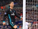 A frustrated Cristiano Ronaldo kicks the post during the Champions League group game between Tottenham Hotspur and Real Madrid on November 1, 2017