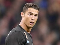 Cristiano Ronaldo is stunned during the Champions League group game between Tottenham Hotspur and Real Madrid on November 1, 2017