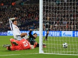 Dele Alli scores the opener during the Champions League group game between Tottenham Hotspur and Real Madrid on November 1, 2017