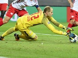Peter Gulacsi in action for RB Leipzig in September 2017