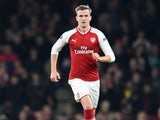 Rob Holding in action during the Europa League group game between Arsenal and Red Star Belgrade on November 2, 2017