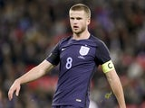 Eric Dier wears the captain's armband during the international friendly between England and Germany on November 10, 2017