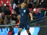 Jack Cork in action during the international friendly between England and Germany on November 10, 2017