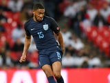 Joe Gomez in action during the international friendly between England and Germany on November 10, 2017