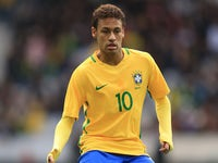 Neymar in action during the international friendly between Japan and Brazil on November 10, 2017