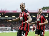 Callum Wilson celebrates the second during the Premier League game between Bournemouth and Huddersfield Town on November 18, 2017