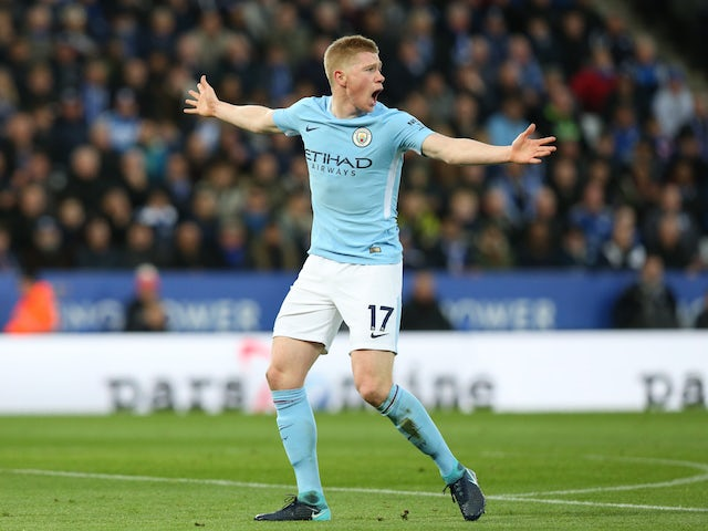 Guardiola: 'De Bruyne an example to all'
