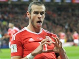 Close-up shot of Gareth Bale celebrating scoring [NOT SUITABLE FOR ARTICLES]