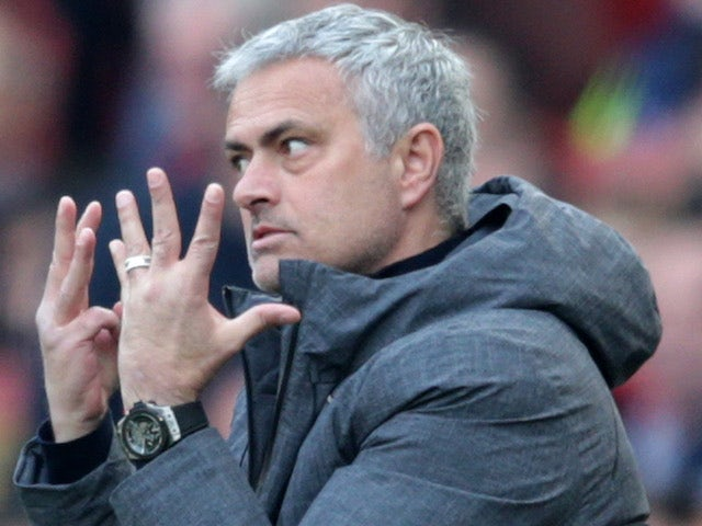Close-up image of Jose Mourinho looking irate [NOT SUITABLE FOR ARTICLES]