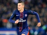 Julian Draxler in action for Paris Saint-Germain against Barcelona on February 14, 2017