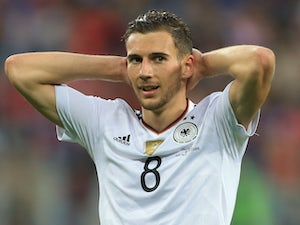 Leon Goretzka in action for Germany in July 2017