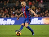 Andres Iniesta in action for Barcelona in December 2016