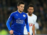 Leicester City defender Ben Chilwell in action during his side's Premier League clash with Tottenham Hotspur at the King Power Stadium on November 28, 2017
