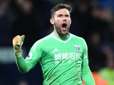 West Bromwich Albion goalkeeper Ben Foster in action during his side's Premier League clash with Newcastle United at The Hawthorns on November 28, 2017