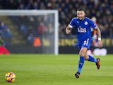 Leicester City defender Danny Simpson in action during his side's Premier League clash with Tottenham Hotspur at the King Power Stadium on November 28, 2017