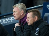 West Ham United manager David Moyes at the Premier League game against Manchester City on December 3, 2017