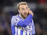 Brighton & Hove Albion striker Glenn Murray in action during his side's Premier League clash with Crystal Palace at the Amex Stadium on November 28, 2017