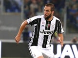Gonzalo Higuain in action for Juventus on May 14, 2017