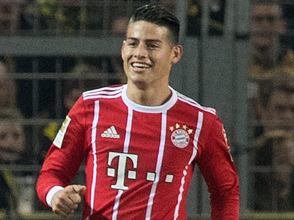 Team News James Rodriguez Named On Bayern Munich Bench For Clash Against Besiktas Sports Mole