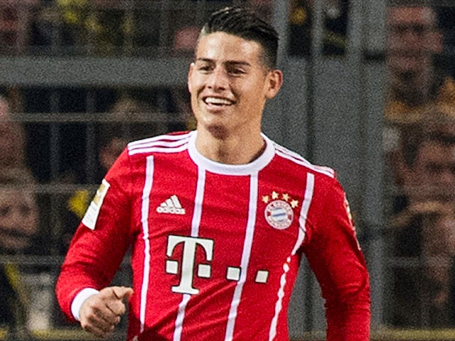 James Rodriguez in action for Bayern Munich on November 4, 2017