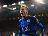Leicester City striker Jamie Vardy celebrates scoring during his side's Premier League clash with Tottenham Hotspur at the King Power Stadium on November 28, 2017