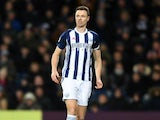 West Bromwich Albion defender Jonny Evans in action during his side's Premier League clash with Newcastle United at The Hawthorns on November 28, 2017