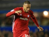 Kenneth Zohore in action for Cardiff City in September 2017