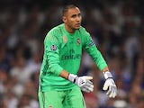Keylor Navas in action for Real Madrid during the Champions League final on June 3, 2017
