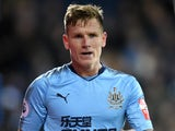 Newcastle United midfielder Matt Ritchie in action during his side's Premier League clash with West Bromwich Albion at The Hawthorns on November 28, 2017