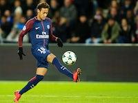 Neymar in action for Paris Saint-Germain on November 22, 2017