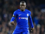 N'Golo Kante in action during the Premier League game between Chelsea and Swansea City on November 29, 2017