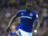 Oumar Niasse in action for Everton on October 1, 2017