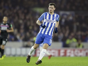 Brighton & Hove Albion midfielder Pascal Gross in action during his side's Premier League clash with Crystal Palace at the Amex Stadium on November 28, 2017