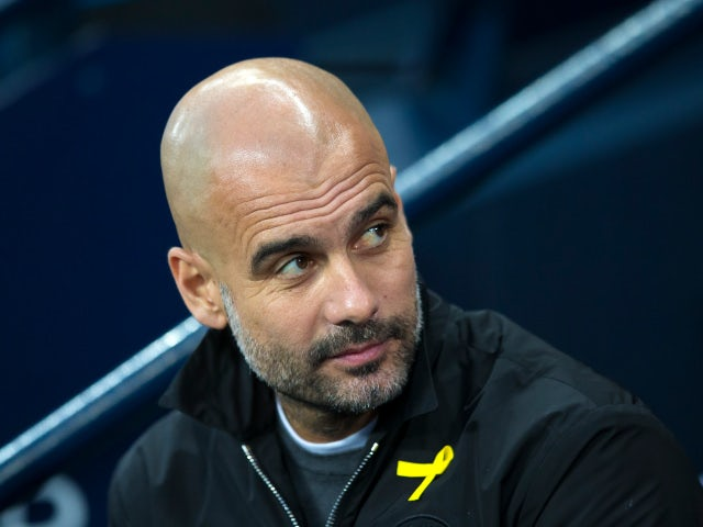 Manchester City manager Pep Guardiola at the Premier League match against West Ham United on December 3, 2017